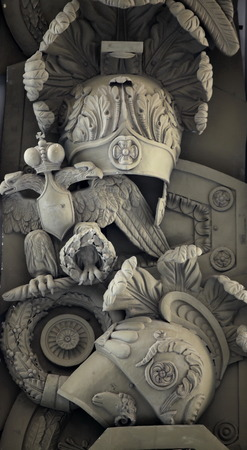 doubleheaded: double-headed eagle on military relief