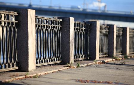 st  petersburg: Architecture of St. Petersburg embankment cast-iron fence