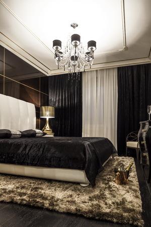 luxury bedroom: luxury modern bedroom bed in dark colors