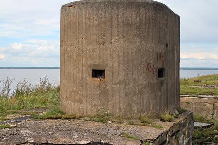 gun turret fort Totleben sea in the Baltic Sea