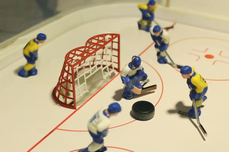 icehockey: ice hockey table game macro shot