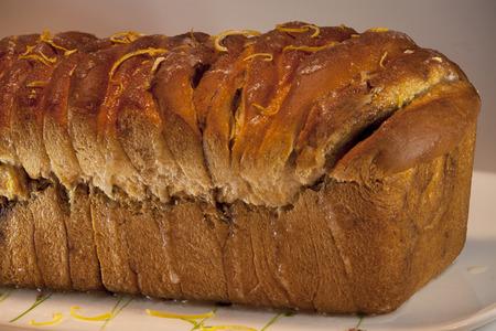 freshly baked crusty bread. Sweet with cinnamon. roasted crust texture