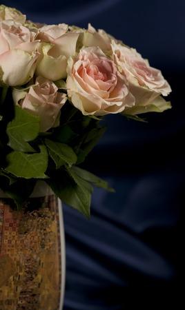 Flowers roses beautiful bouquet  in vase interior