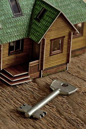 Key attached to housing Concept  investment real estate Lizenzfreie Bilder