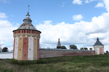 View of old Russian fortress,Tower walls