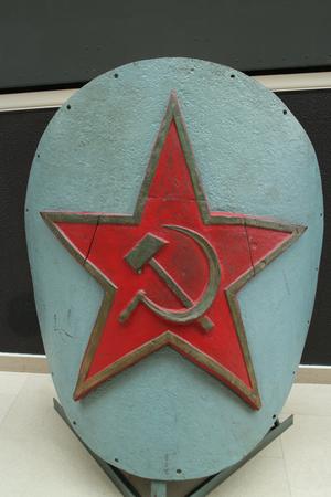 Soviet red star, Bow ship decoration battleship. Tradition of decorating ships