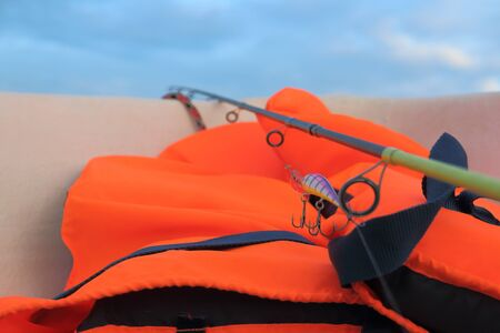 orange lifejacket is necessary when catching predatory fish in the sea