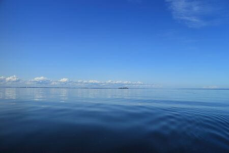 blue sky over the blue sea, view of a beautiful seascape