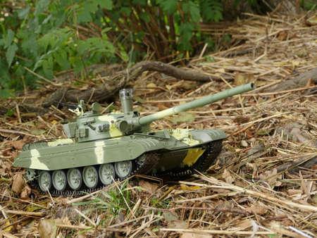 Tank T72 side view rc model