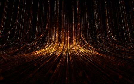 Abstract background with magic Lines composed of glowing up.