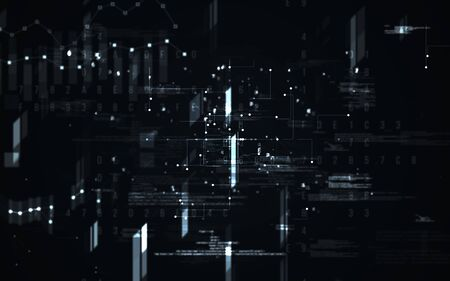 Abstract digital matrix background. Futuristic big data information technology concept. Motion graphic for abstract data center, block chain, server, internet, hi-speed.