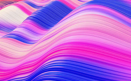 Pink and magenta violet purple flowing wavy hair lines abstract background 版權商用圖片