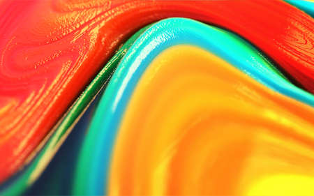 3d Illustration colorful yellow red blue green glossy and shiny plastic abstract background. Reklamní fotografie - 156643206