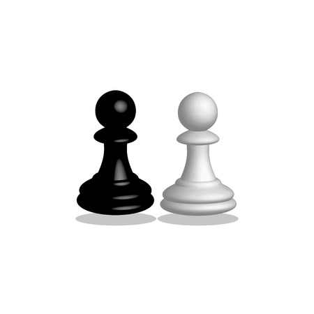 Chess pawn in 3D on a white background