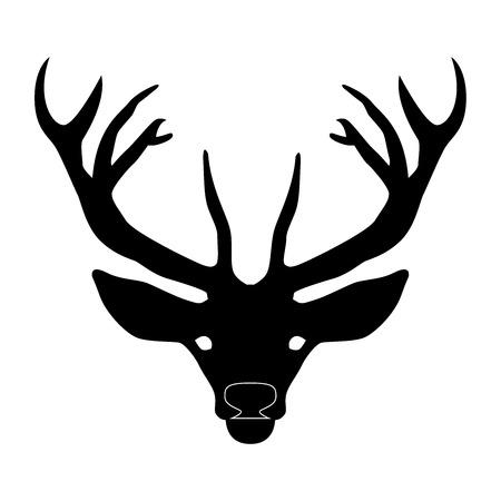 Cabeza de ciervo con cuernos