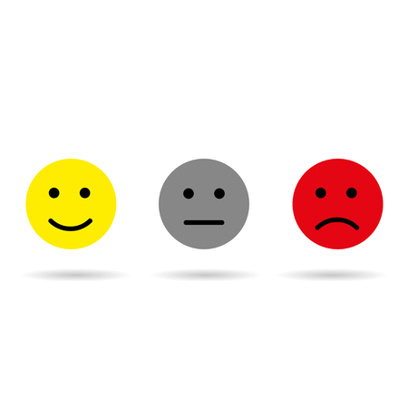Signs of good, bad and neutral mood