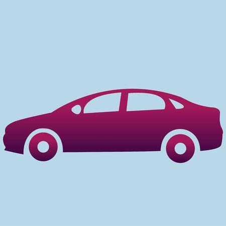 Car with a purple gradient Stock fotó - 131961105