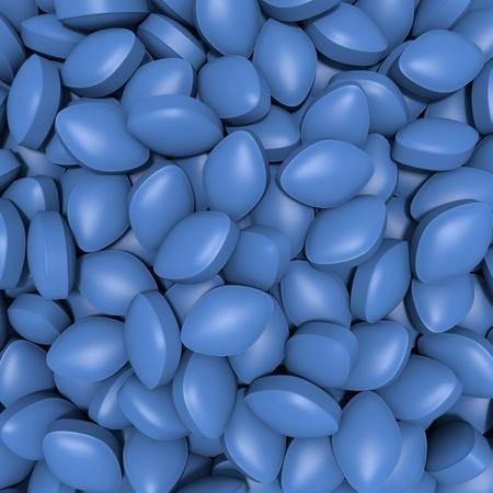3D blue tablets