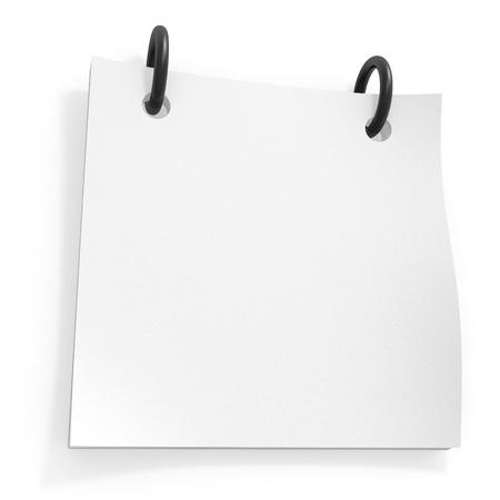 Blank notepad isolated on white background
