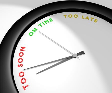 A wall clock says  Stock Photo