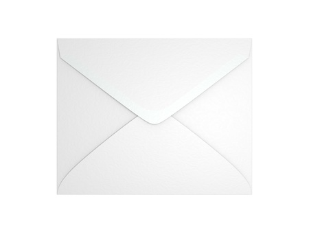 A blank envelope isolated on white background  Computer generated image with clipping path