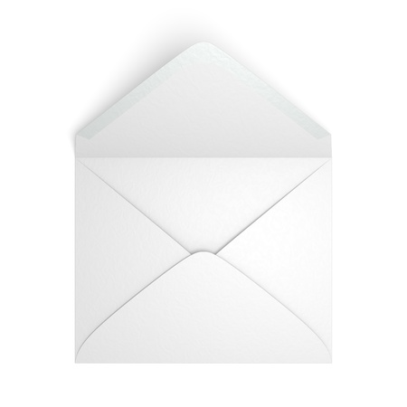 A blank envelope on white background
