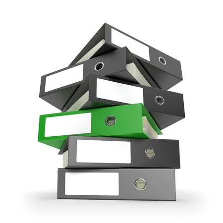 Ring binders on white desktop