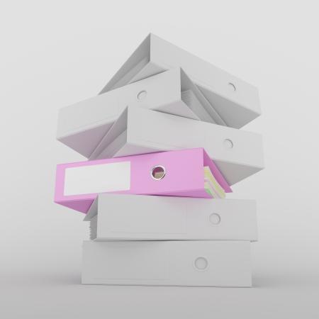 soltería: Carpetas de anillas en equipo escritorio gris imagen generada con trazado de recorte