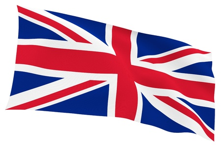 British flag  Union Jack  isolated on white background with clipping path photo