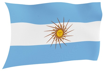 argentine: Argentine flag isolated on white background with clipping path
