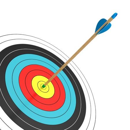 bull s eye: An arrow in the bull