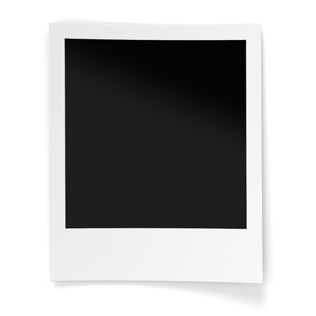 Blank photo frame isolated on white background  Computer generated image with clipping paths photo