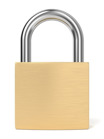 Padlock on white background  Computer generated image with clipping path Stock Photo - 19484178