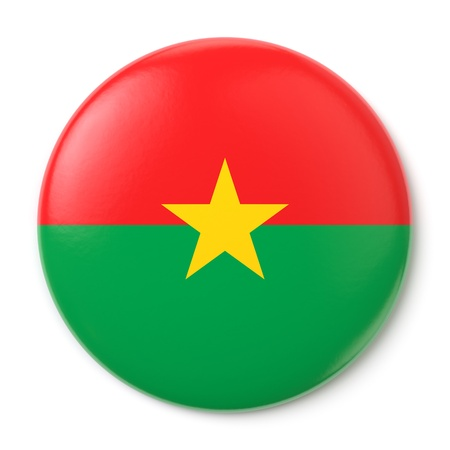 A pin button with the flag of Burkina Faso    Stock Photo