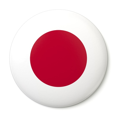 A pin button with the Japanese flag   photo