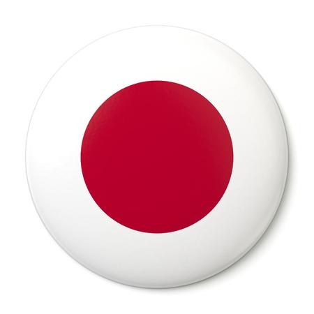 bandera japon: Un bot�n de pin con la bandera japonesa