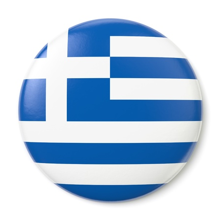 hellenic: A pin button with the flag of the Hellenic Republic. Isolated on white background with clipping path.