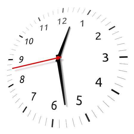 Isolated watch on white background  Computer generated image