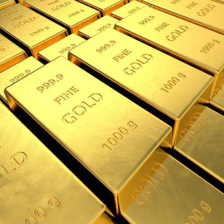 goldbars: Gold bars  High resolution 3D rendering  Stock Photo