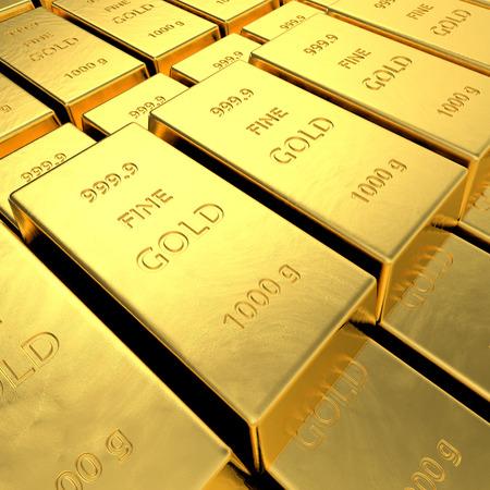 goldbars: Gold bars  High resolution 3D rendering  Stock Photo