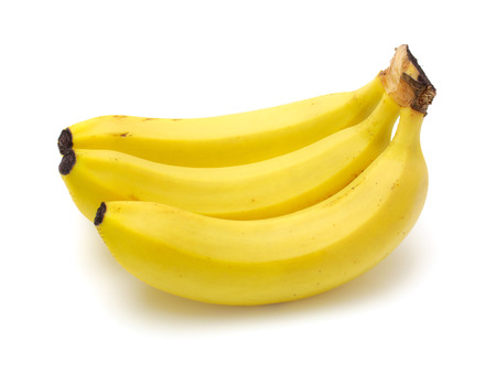 Cavendish bananas isolated on white background with clipping path