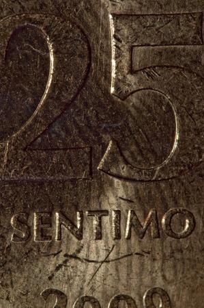 25 cents: Centavo Stock Photo