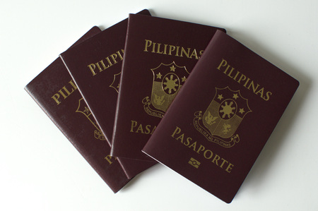 A bunch of newly issued philippine passport