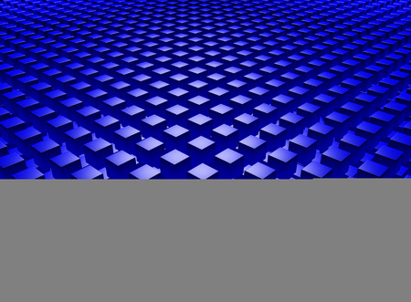 3D Abstract background with blue cubes Фото со стока