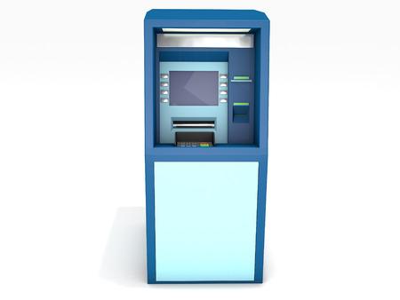 bankomat: 3D rendered ATM on white background