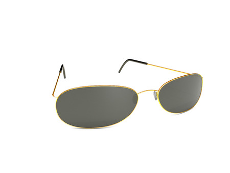 3d rendered gold sunglasses