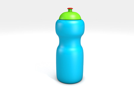 sports water bottle isolated on white Фото со стока
