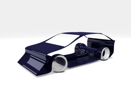 simple car concept on white background Фото со стока
