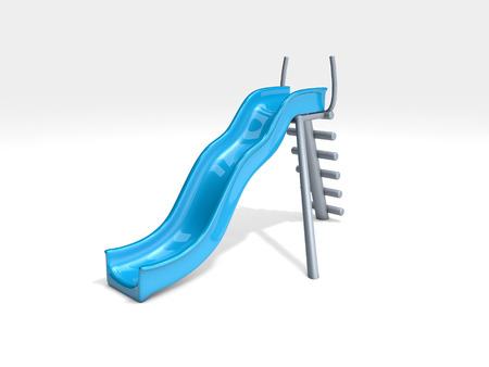 blue slide on white background Фото со стока