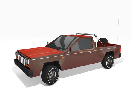 3D rendered pickup truck